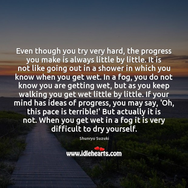 Image, Even though you try very hard, the progress you make is always
