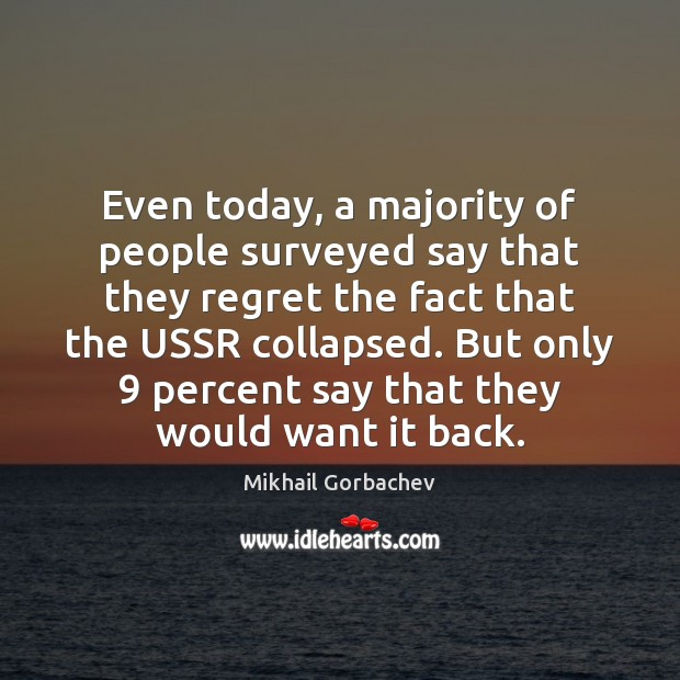Image, Even today, a majority of people surveyed say that they regret the