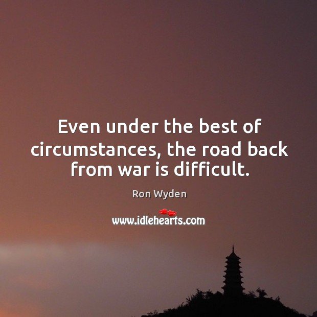 Even under the best of circumstances, the road back from war is difficult. Image