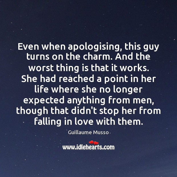 Image, Even when apologising, this guy turns on the charm. And the worst