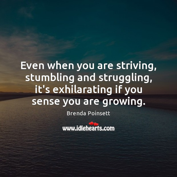 Image, Even when you are striving, stumbling and struggling, it's exhilarating if you