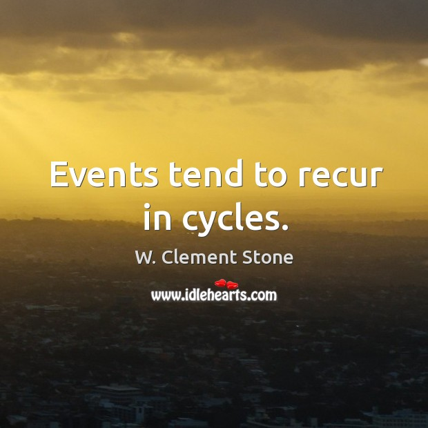 Image, Events tend to recur in cycles.