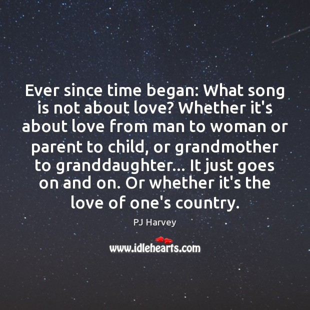 Ever since time began: What song is not about love? Whether it's Image