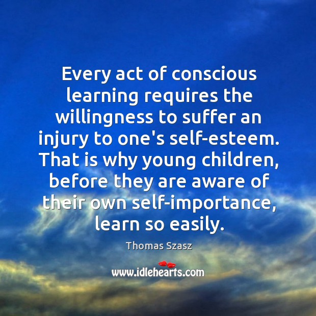 Image, Every act of conscious learning requires the willingness to suffer an injury