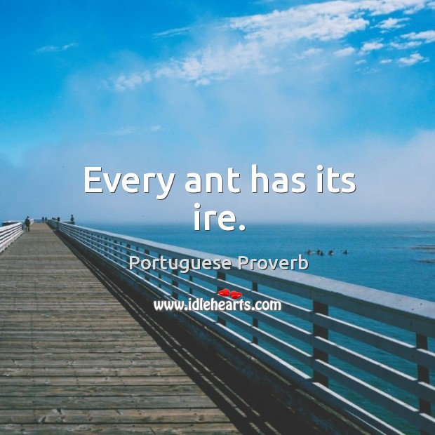 Every ant has its ire. Image