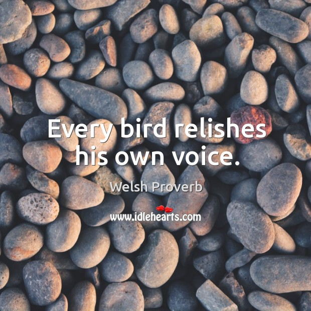 Image, Every bird relishes his own voice.