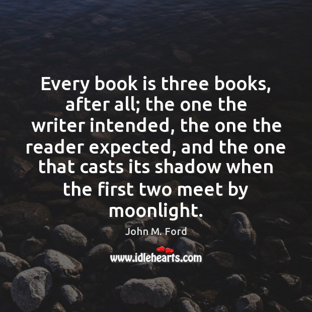 Every book is three books, after all; the one the writer intended, Image