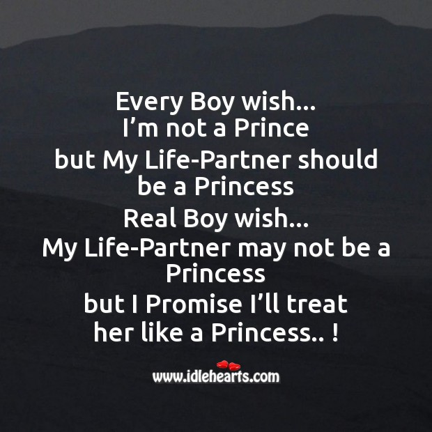 Every boy verus real boy wish. Image