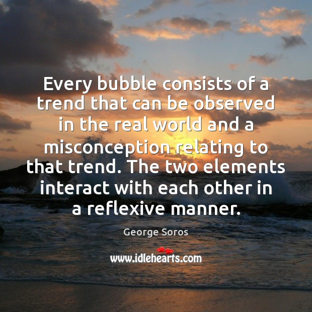Every bubble consists of a trend that can be observed in the Image