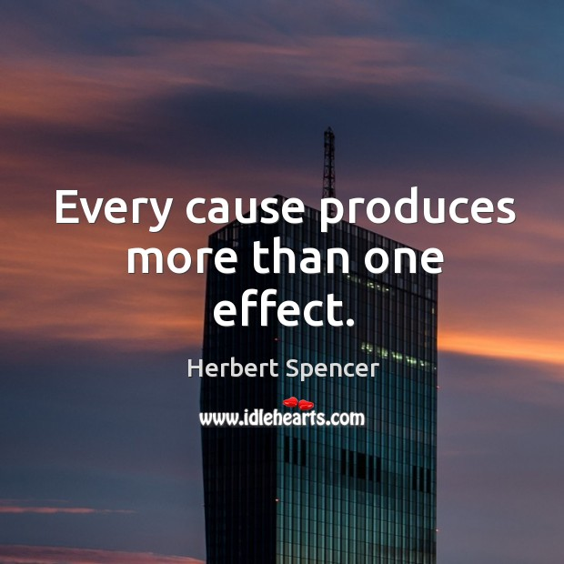 Image, Every cause produces more than one effect.
