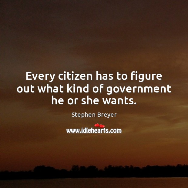 Every citizen has to figure out what kind of government he or she wants. Image