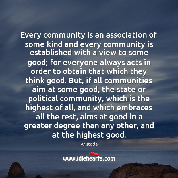 Every community is an association of some kind and every community is Image