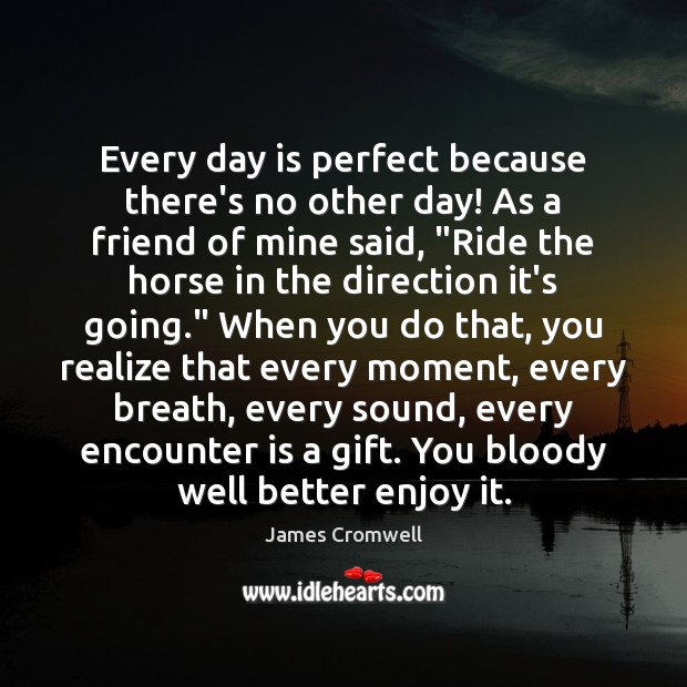 Every day is perfect because there's no other day! As a friend Image