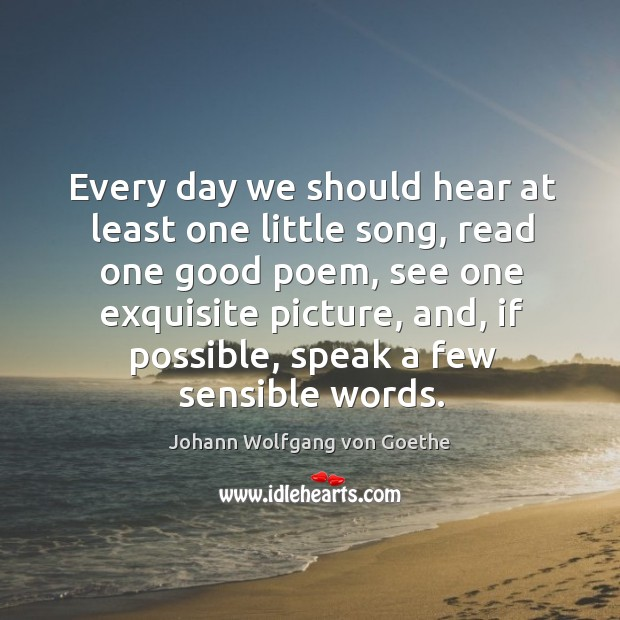 Every day we should hear at least one little song Image