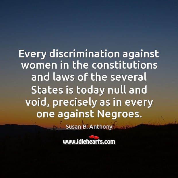 Image, Every discrimination against women in the constitutions and laws of the several