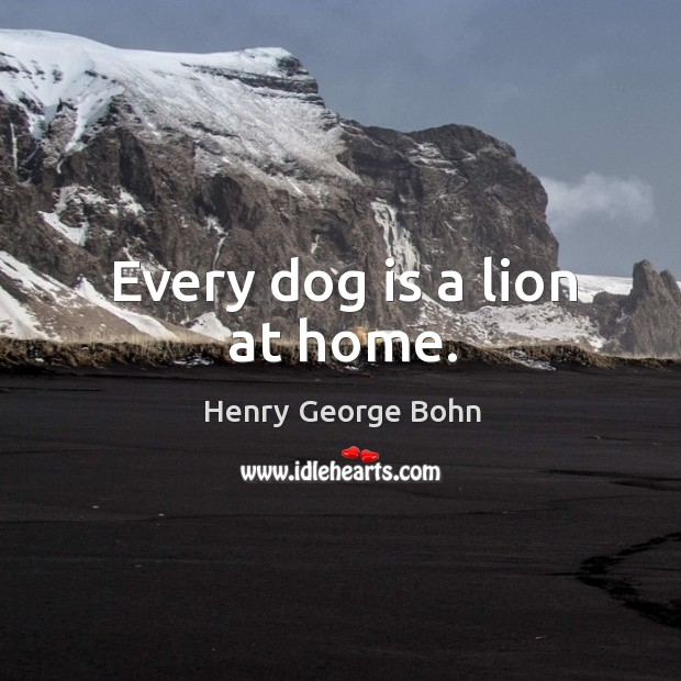 Every dog is a lion at home. Image