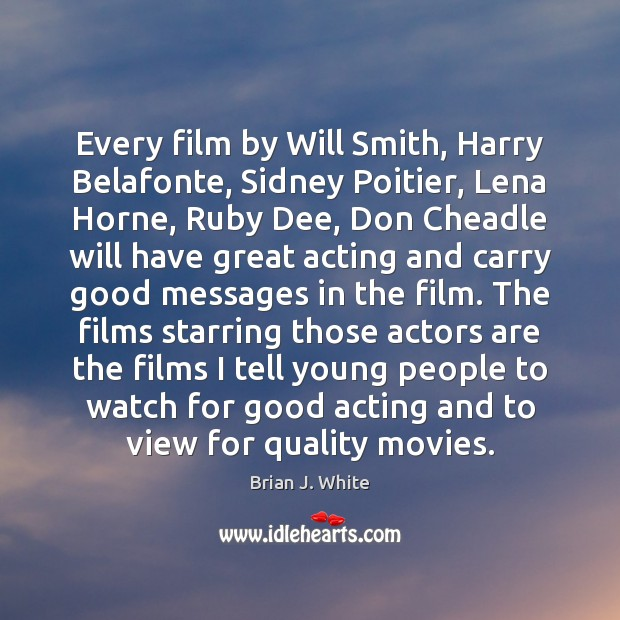 Image, Every film by Will Smith, Harry Belafonte, Sidney Poitier, Lena Horne, Ruby