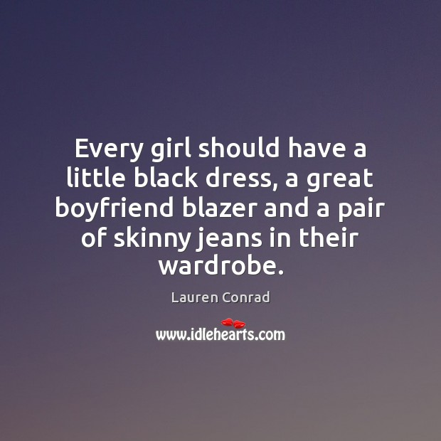 Image, Every girl should have a little black dress, a great boyfriend blazer