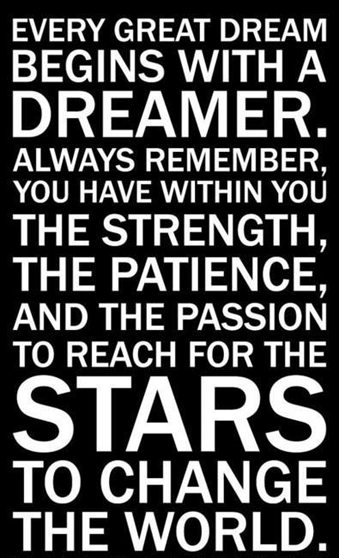 Change, Dream, Great, Inspirational, Passion, Patience, Remember, Star, Strength, World