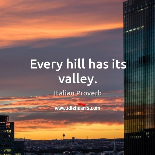 Image, Every hill has its valley.