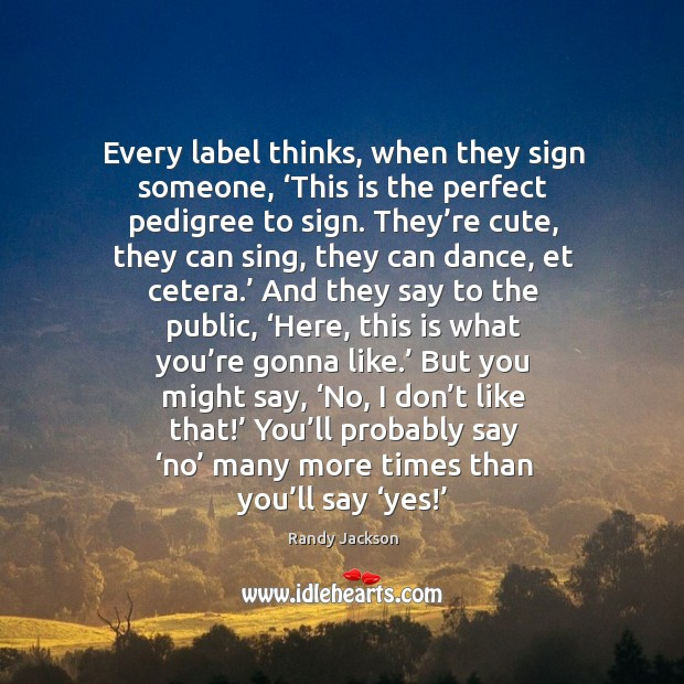 Every label thinks, when they sign someone Image