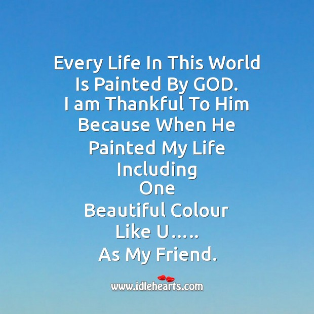 Every life in this world Friendship Day Messages Image