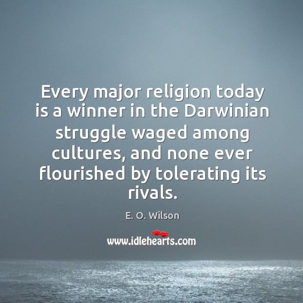 Image, Every major religion today is a winner in the darwinian struggle waged among