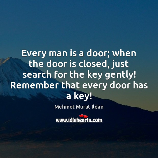 Image, Every man is a door; when the door is closed, just search