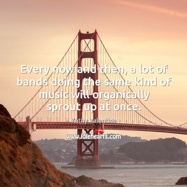 Every now and then, a lot of bands doing the same kind of music will organically sprout up at once. Kathy Valentine Picture Quote