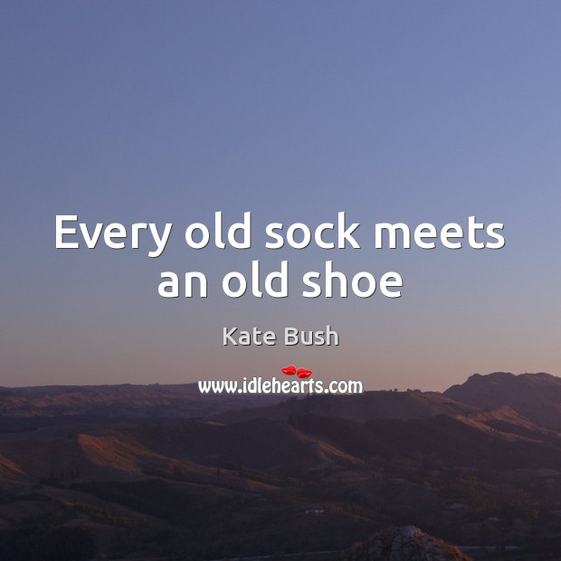 Every old sock meets an old shoe Image