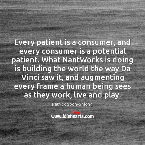 Image, Every patient is a consumer, and every consumer is a potential patient.