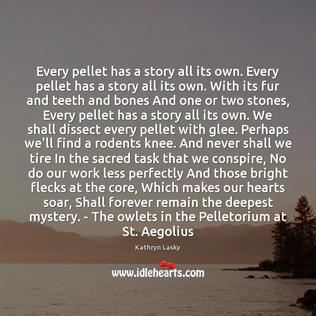 Image, Every pellet has a story all its own. Every pellet has a