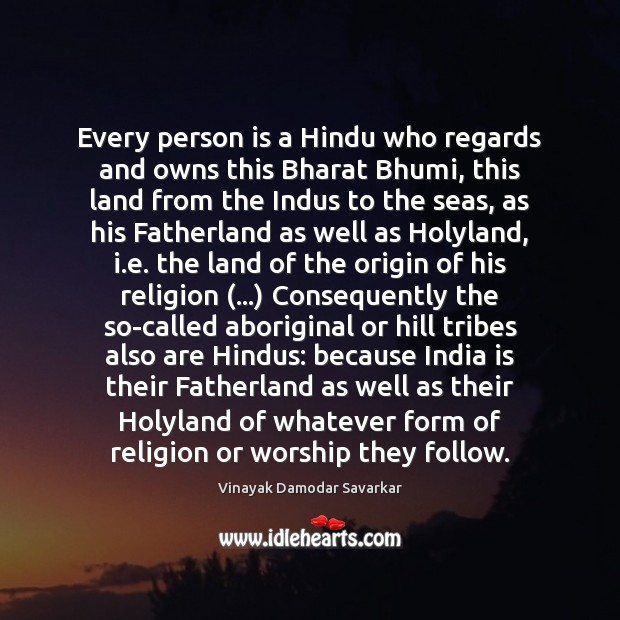 Image, Every person is a Hindu who regards and owns this Bharat Bhumi,