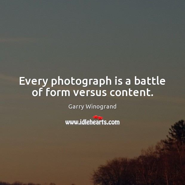 Picture Quote by Garry Winogrand