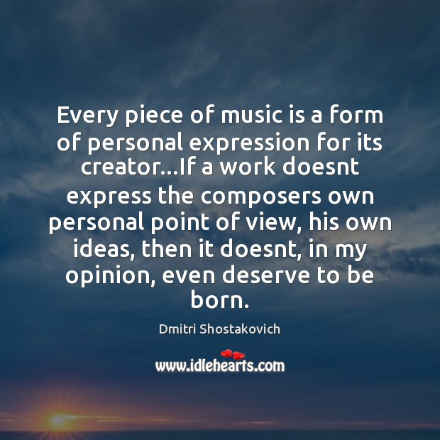 Every piece of music is a form of personal expression for its Image