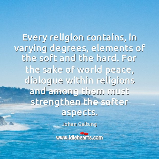 Every religion contains, in varying degrees, elements of the soft and the Image