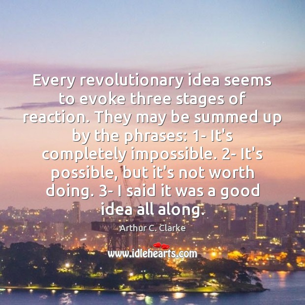Image, Every revolutionary idea seems to evoke three stages of reaction. They may