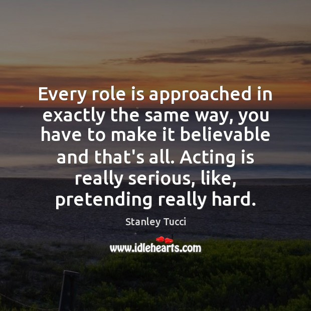 Every role is approached in exactly the same way, you have to Image