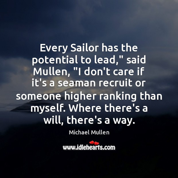 Picture Quote by Michael Mullen