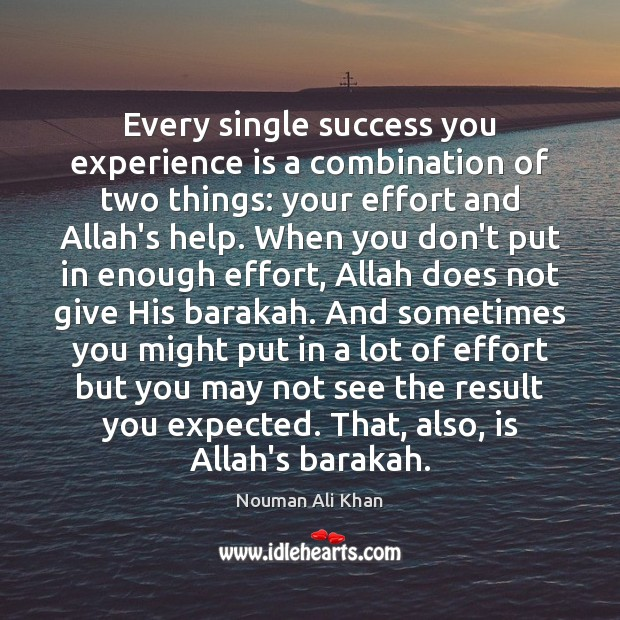 Every single success you experience is a combination of two things: your Effort Quotes Image