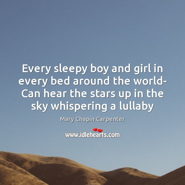 Every sleepy boy and girl in every bed around the world- Can Image