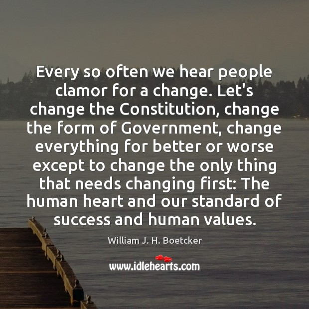 Every so often we hear people clamor for a change. Let's change Image