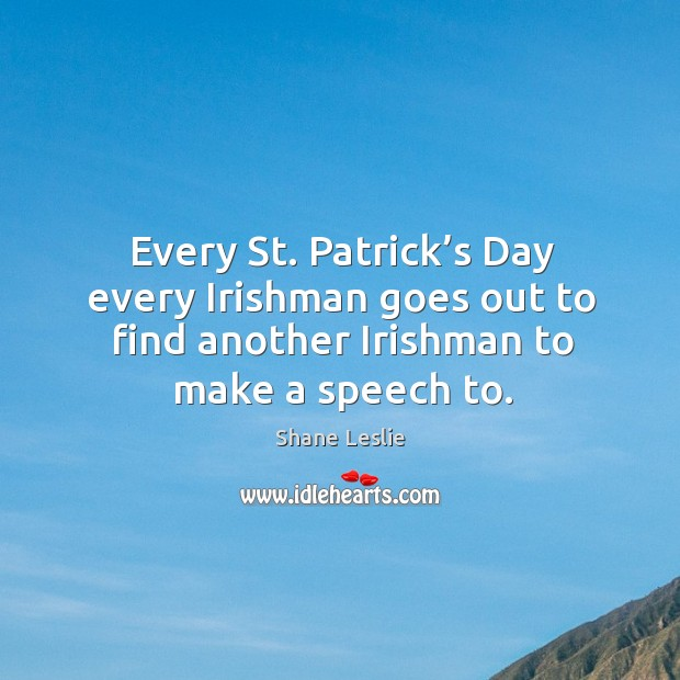 Saintpatrick's Day Quotes