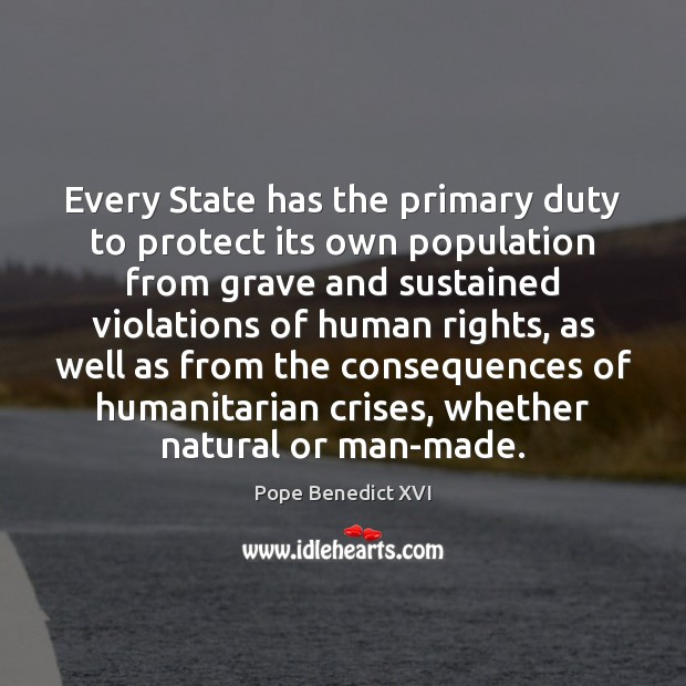 Image, Every State has the primary duty to protect its own population from