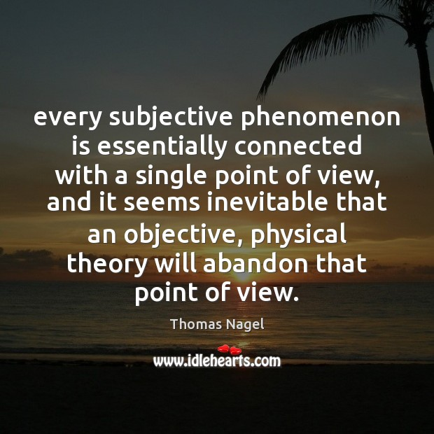 Every subjective phenomenon is essentially connected with a single point of view, Image
