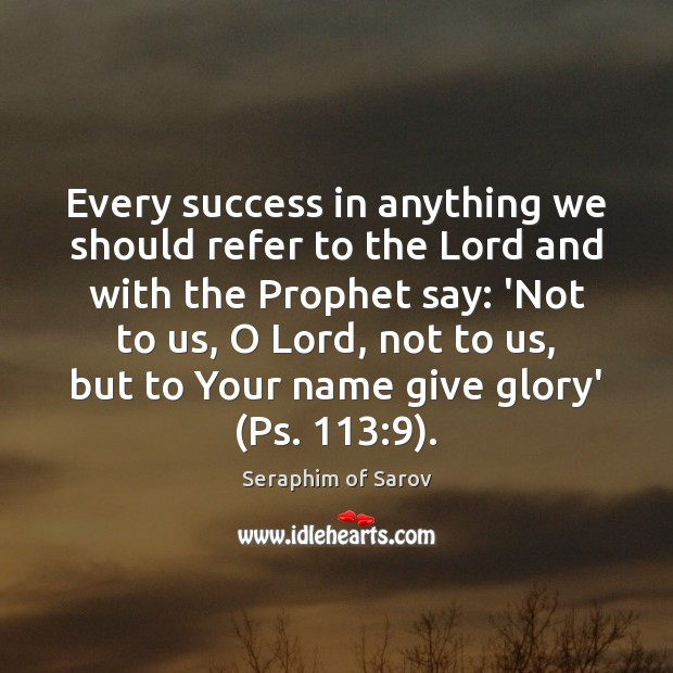 Every success in anything we should refer to the Lord and with Image