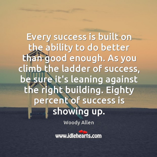 Image, Every success is built on the ability to do better than good