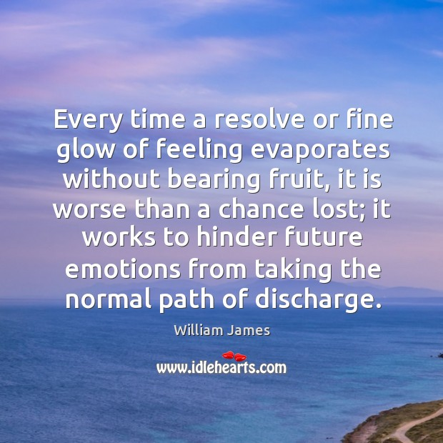 Every time a resolve or fine glow of feeling evaporates without bearing Image