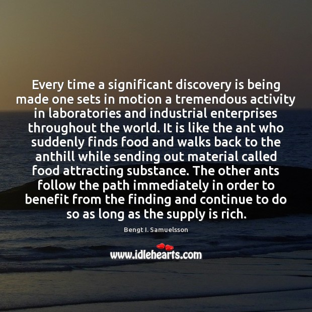 Image, Every time a significant discovery is being made one sets in motion