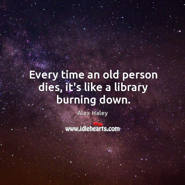 Image, old people are books.